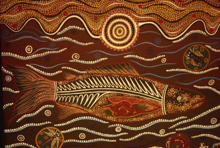 aboriginal painting | Painting From The Dreamtime, Aboriginal Art, Australia, Pacific ...