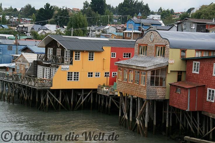 Palafitos in Castro, Chiloe Island, Chile
