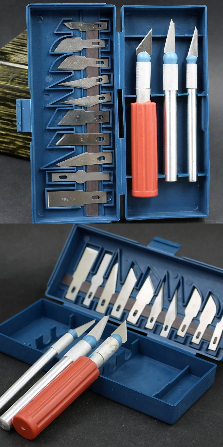 13 pieces/set Wood Carving Knife Carving Tools Set with 3 Handles Fruit Food Craft Sculpture Engraving Knife Scalpel DIY Cutting