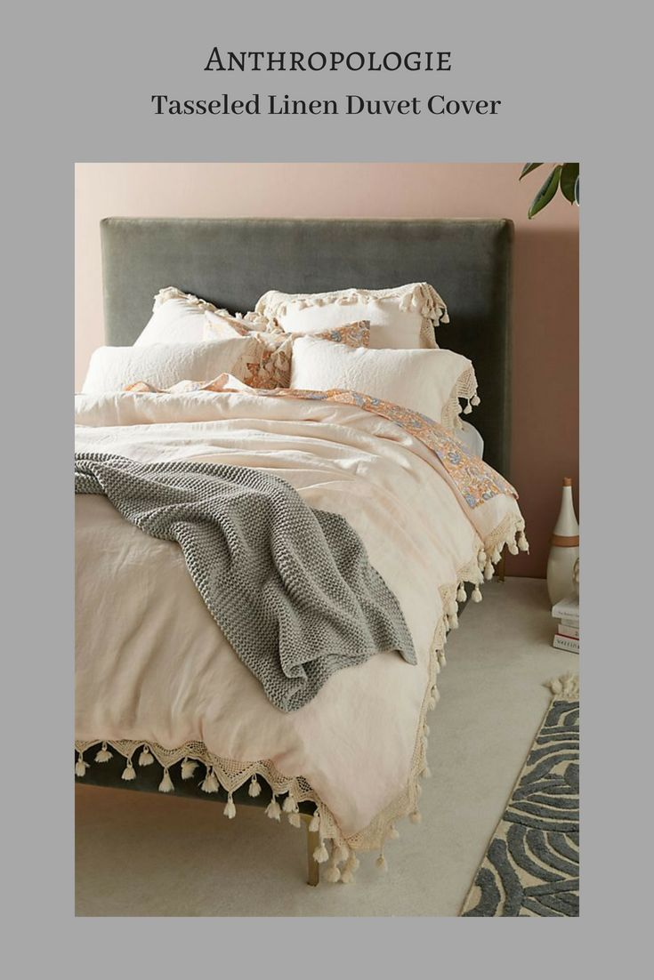 Tasseled Linen Duvet Cover In 2020 Linen Duvet Luxury Bedding Sets Duvet Bedding
