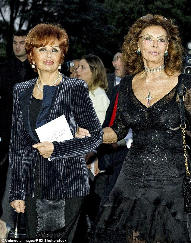 Famous sisters: Maria Villani Scicolone, who was Alessandra Mussolini's mother was the sister of world famous Hollywood sex symbol Sophia Loren