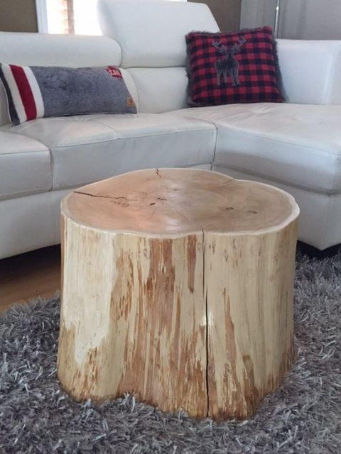 Stump Side Table, Log Side Tables, Rustic Coffee Table, Tree Trunk Table, Wood Block Furniture- X-LARGE