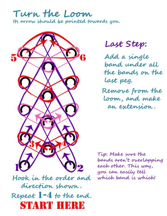 Rainbow Loom Heart Bracelet – Written Instructions | Pufferbellies Toys & Books