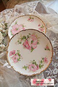 Limoges cake plates