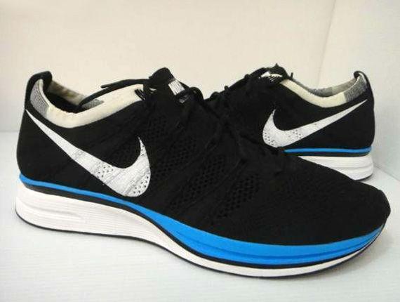 Nike Flyknit Trainer+   Black   Blue   White