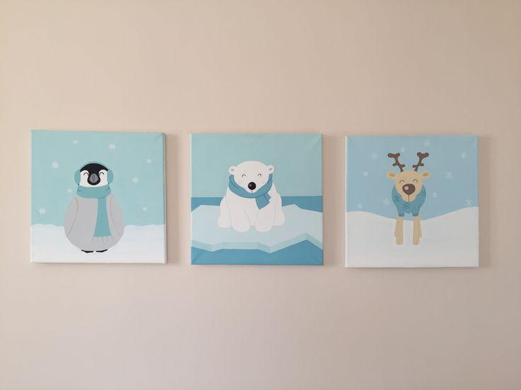 babaszoba dekor, gyerekszoba dekor, babaszoba, babaszoba design, gyerekszoba, gyerekszoba design, sarkvidék, nursery art, nursery wall art