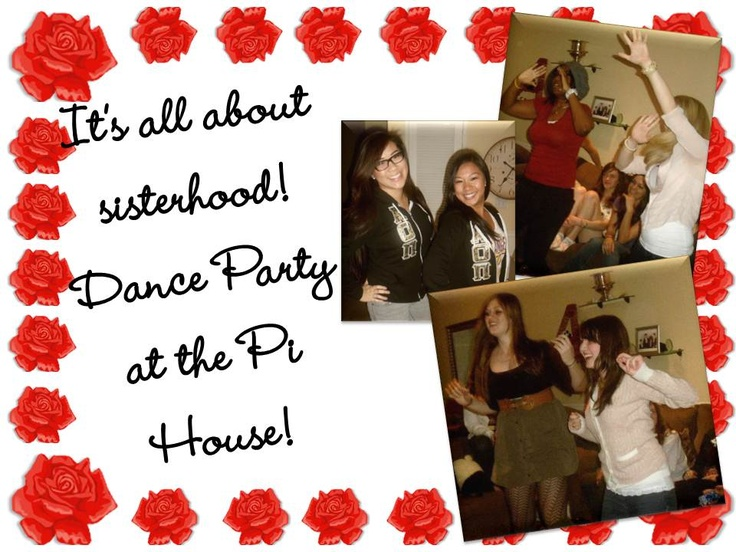 Fun sisterhood event - Wii dance party at the Pi house!