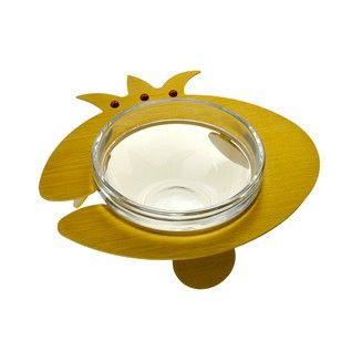 Honingbakje glas en Aluminium Goudkleur - Adi Sidler R9073