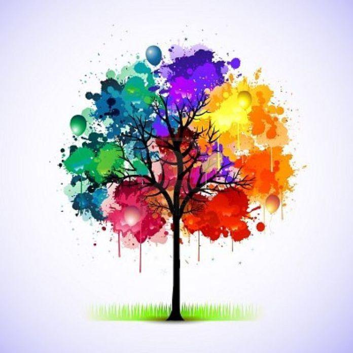 Trends Handmade Board Ideas : Paint splat tree