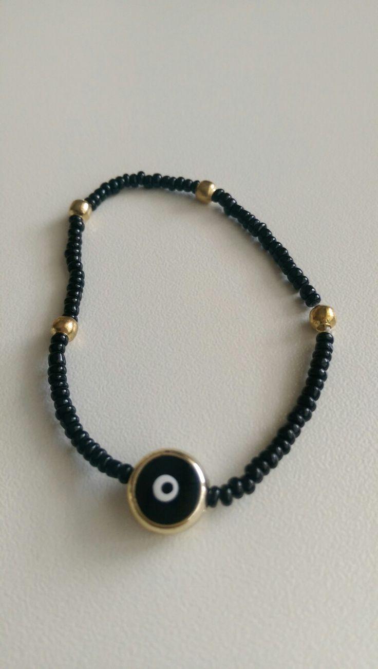 Bracelet, ❤ black evil eye