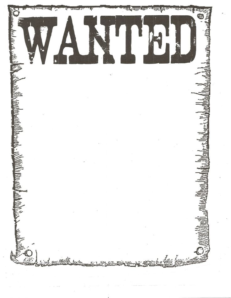 Influential image within free wanted poster template printable