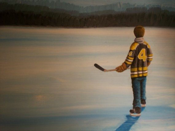 Bobby Orr painting ~~ my favorite player, ever!