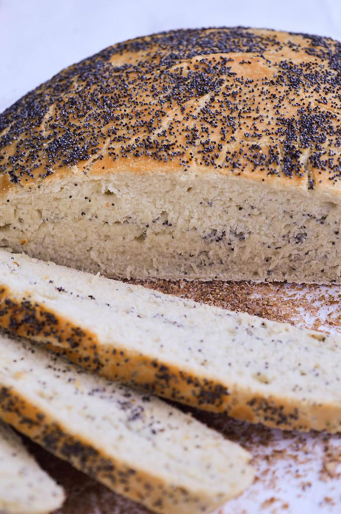 One of the popular ancient Greek breads – a Mushroom Bread (Boletinos Artos). The recipe calls for flour, wheat bran, water, instant yeast, salt, sugar, olive oil, and poppy seeds. Try it at home! It is delicious!