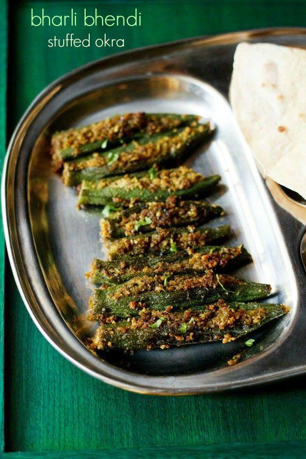 bharli bhendi recipe with step by step pics. stuffed okra or bhindi with a spiced coconut-peanut filling. in marathi the word 'bharli' means 'stuffed' and 'bhendi' is 'okra'. hence the name bharli bhendi.