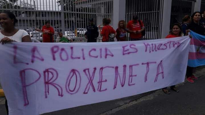 Panamá. En la Marcha por el Día Internacional de la Trabajadora Sexual, serios cuestionamientos a la Policía Nacional de Panamá.