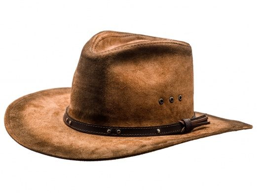 Leather cowboy hat (brown)