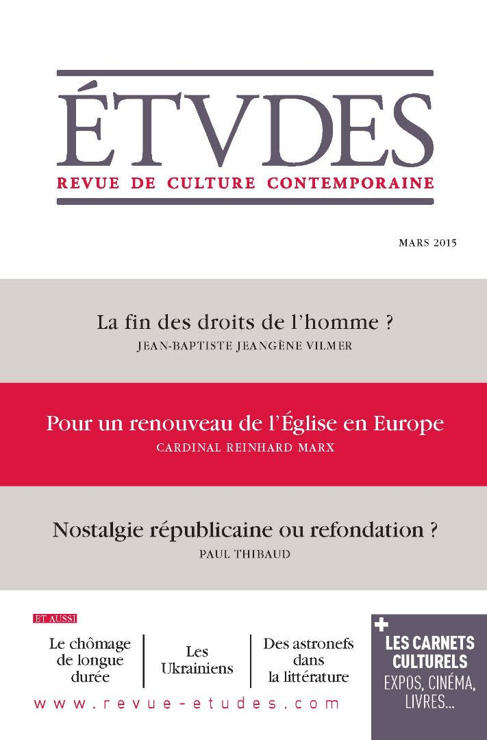 Etudes - E-revue de culture contemporaine