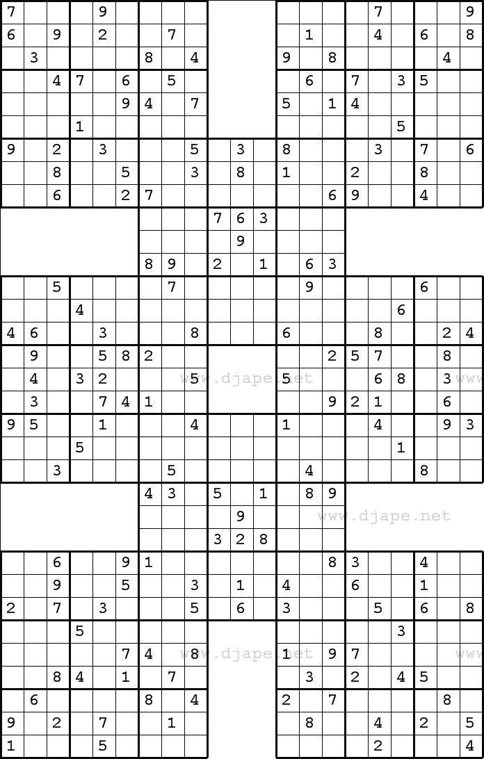 Sudoku Harakiri Puzzles Sudoku puzzles, Printable puzzles, Logic