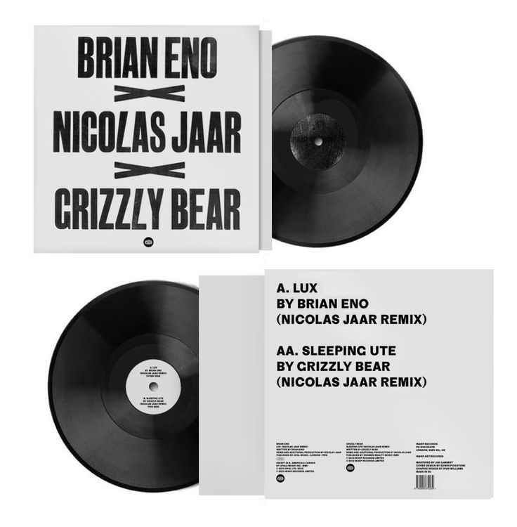 "Brian Eno and Grizzly Bear can announce a limited edition 12"" for Record Store Day, featuring Nico / Nicolas Jaar remixes from their landmark 2012 albums 'LUX' and 'Shields'. More info @ http://warp.net/…/grizz…/brian-eno-nicolas-jaar-grizzly-bear"