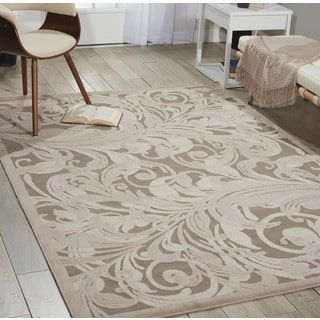 Shop for Nourison Graphic Illusions Silver Swirl Transitional Mutli Rug (7'9 x 10'10). Get free shipping at Overstock.com - Your Online Home Decor Outlet Store! Get 5% in rewards with Club O! - 14605378
