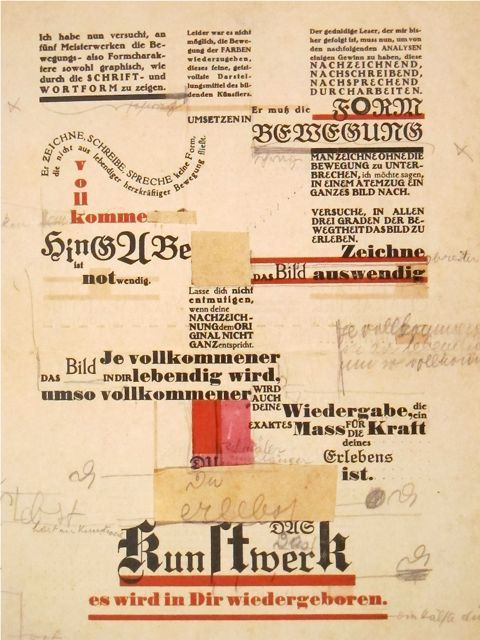 """Friedl Dicker  """"Analysis of Old Masters""""  Lithograph   (With Johannes Itten)  1921"""
