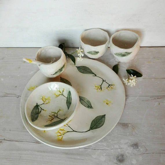 Guarda questo articolo nel mio negozio Etsy https://www.etsy.com/it/listing/538507233/set-tea-jasmine-setstoneware-tea-cups