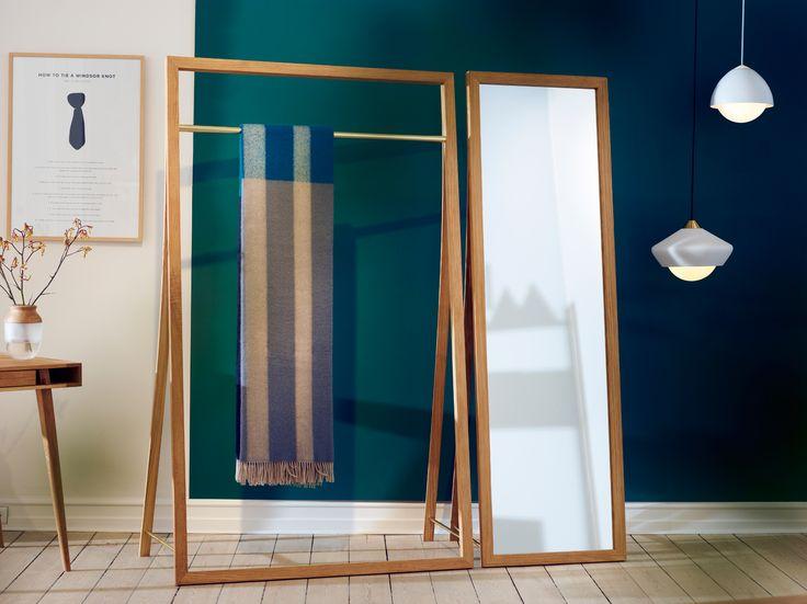 Framed Mirror + Rack by Nordic Tales