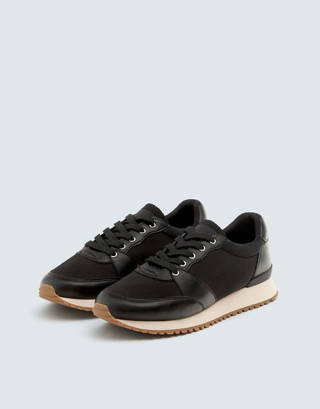 Black Urban Trainers Pull Bear Trainers Black Shoes
