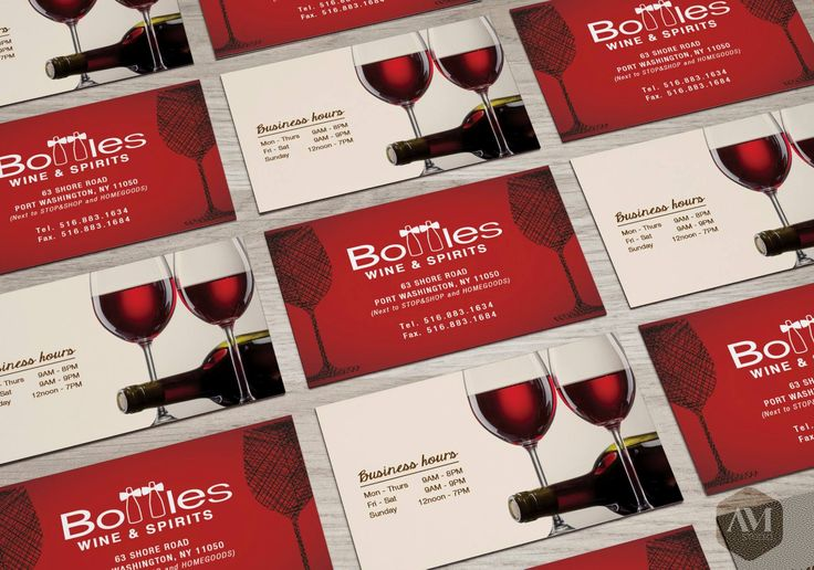 Bottle Wine Spirits  // Winery Business Card Design  #design #AMStudio #AMDesign