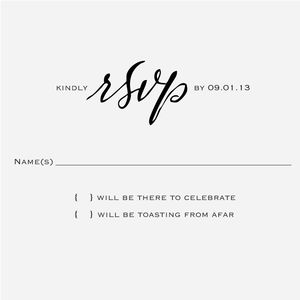 """""""Calligraphy Accent"""" Reply Card Stamp, No.3"""