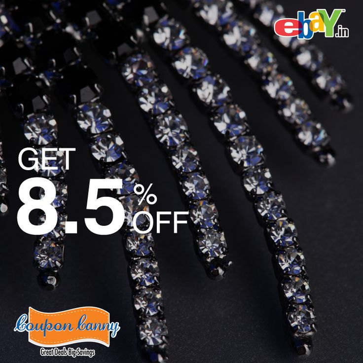 What better way to start the #week than with some Jewellery shopping from @Ebay! Get Flat 8.5% off !!  Visit : http://www.couponcanny.in/stores/ for more store #discounts