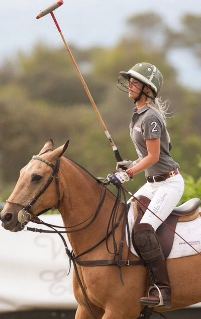 My turn to move and show these girls how to play polo.......