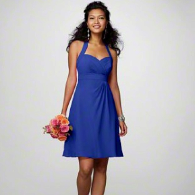 alfred angelo royal blue and white wedding dresses