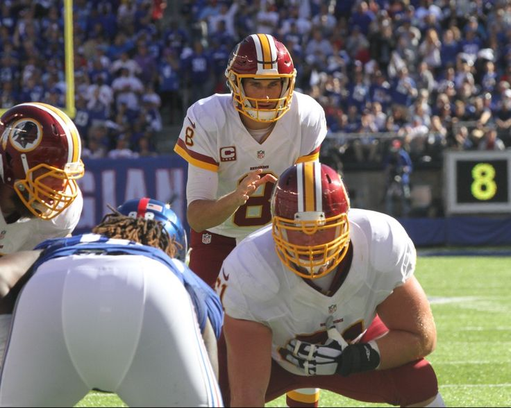 Ever dream of playing linebacker in the NFL and staring down a quarterback  (in this Washington Redskins quarterback  Kirk Cousins (8))?  Well I have, and this is probably as close as I'll ever get.   Photo by Bruce Adler / Washington Redskins
