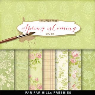 FREE New Freebies Kit of Backgrounds - Spring is Coming:Far Far Hill - Free database of digital illustrations and papers