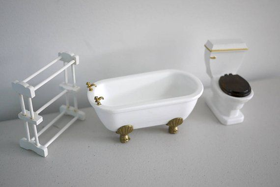 Very Small Scale Dollhouse Miniature Toilet