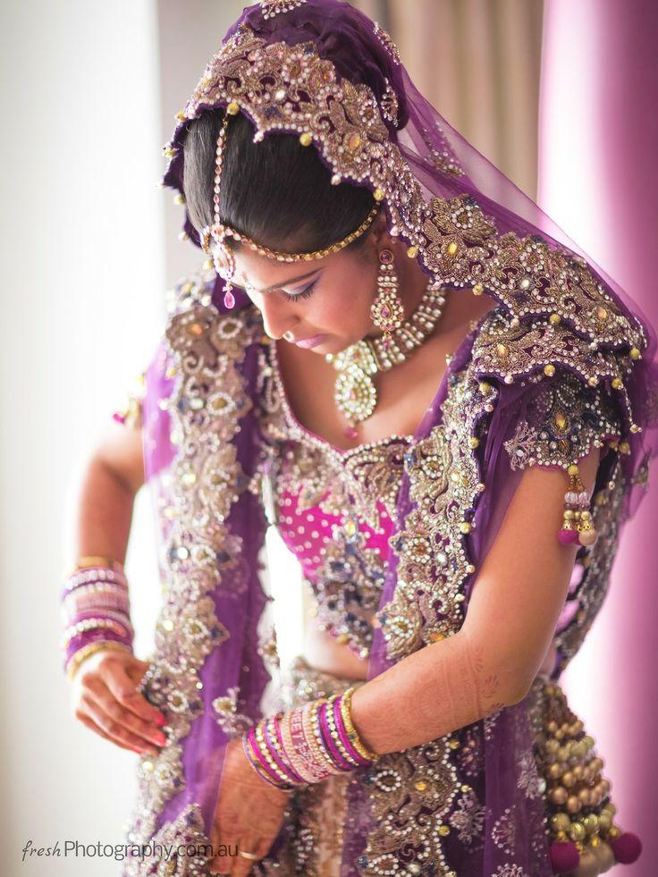 Beautiful Purple and Pink Embellished Lengha Choli