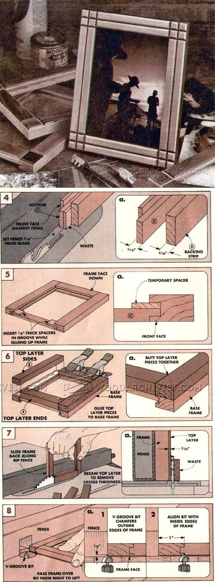 Desk Picture Frames Plans - Woodworking Plans and Projects   WoodArchivist.com