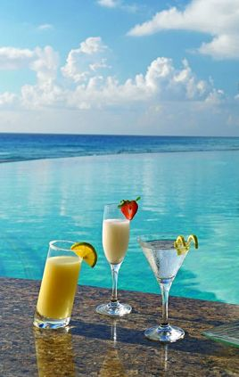 Cocktails at Le Blanc Spa Resort, Cancun, Mexico