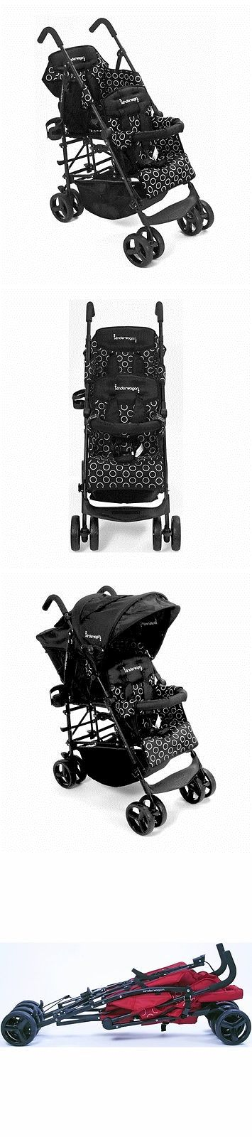 Other Baby Gear 100224: Kinderwagon Hop Tandem Double Umbrella Stroller In Black Brand New! Open Box -> BUY IT NOW ONLY: $259.99 on eBay!