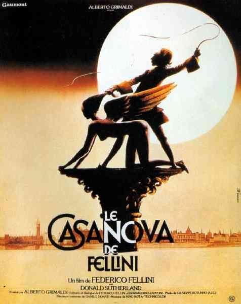 """MP537. """"Il Casanova di Fellini"""" French Movie Poster by Rene Ferracci (Federico Fellini 1976) / #Movieposter"""