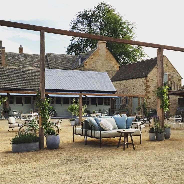 soho farmhouse courtyard