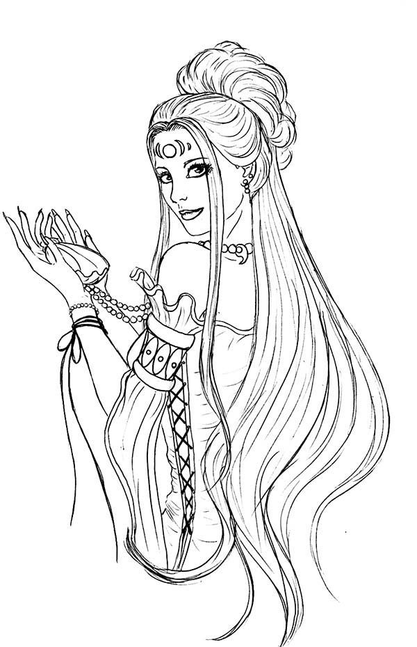 Aphrodite Stunning Picture Of Aphrodite Coloring Page