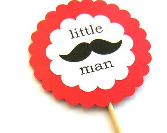 6 Little Man Mustache Centerpiece Mix by thepartypenguin on Etsy