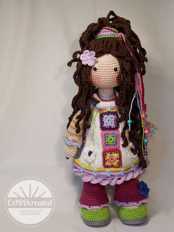 Crochet pattern for doll YUNA pdf Deutsch English