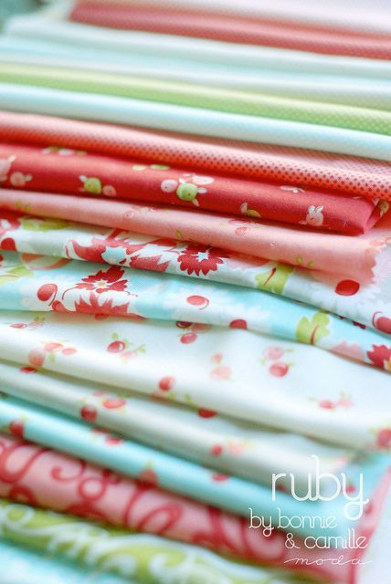 Ruby will arrive in stores in October.  I can't wait to make a quilt with these adorable fabrics!