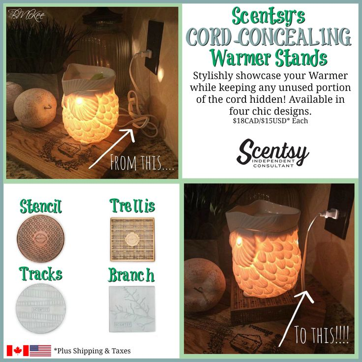 Scentsy Cord-Concealing Warmer Stands Flyer By: Brittany McKee Photo Cred: Katie Farner www.brittanygerrity.scentsy.ca