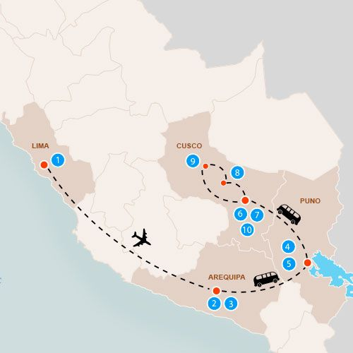 Map Peru Travel Special 1