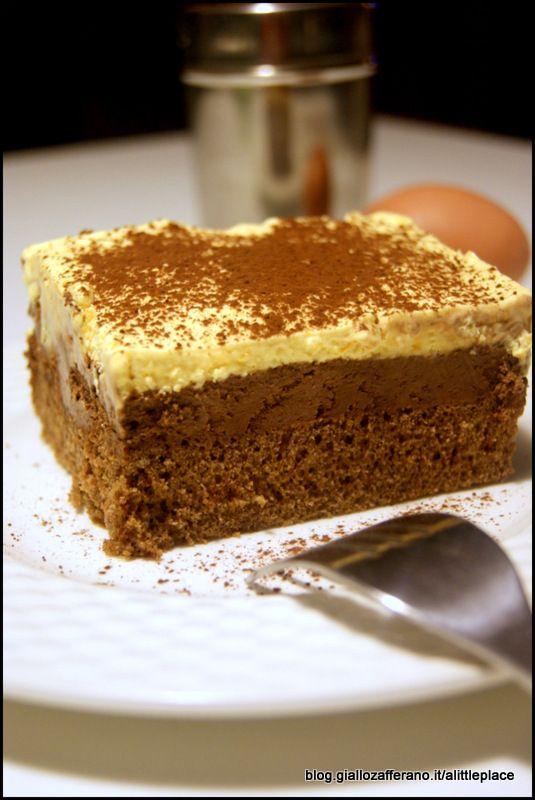 Semifreddo bicolore panna e cioccolato - Chocolate Cream Semifreddo