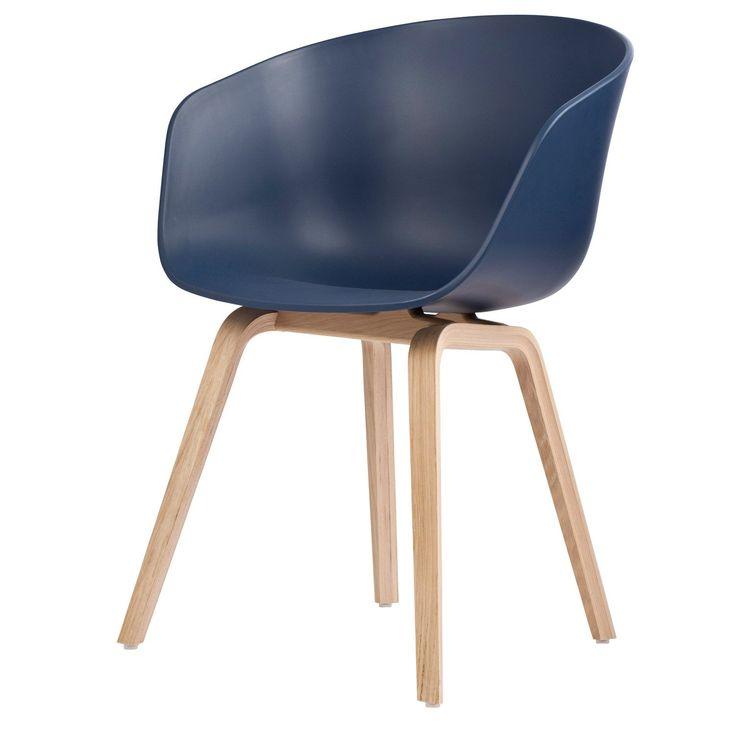About a Chair 22, blå/eikben i gruppen Møbler / Stoler / Stoler hos ROOM21.no (123641)